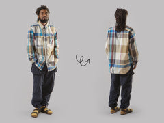 Engineered Garments Work Shirt (Khaki Big Madras Plaid)