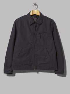 Engineered Garments Driver Jacket (Dark Navy Cotton Double Cloth)