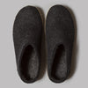 Glerups Open Heel Slippers (Charcoal)