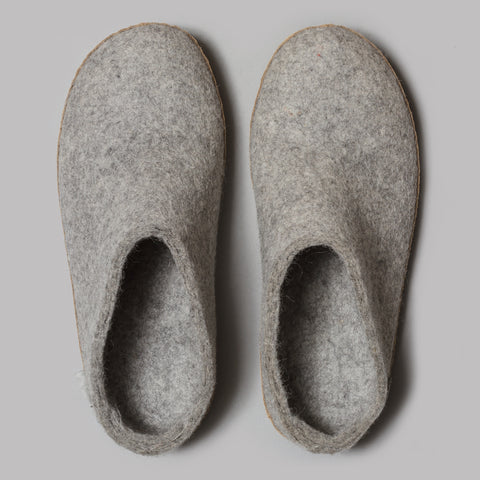 Glerups Open Heel Slippers (Grey)