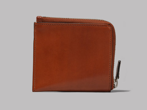 Il Bussetto Zip Wallet (Light Brown Leather)
