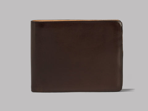 Il Bussetto Bi-Fold Wallet (Dark Brown Leather)