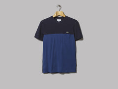 Lacoste Contrast Panel Pocket T-Shirt (Navy / Blue)