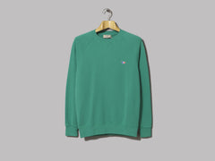 Maison Kitsun̩ Sweatshirt Tricolor Fox Patch (Green)