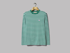 Maison Kitsuné Marin T-Shirt Tricolor Fox Patch (Green / White)