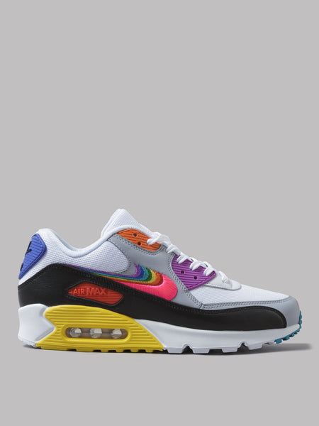Los Angeles d6bc9 a8566 Nike Air Max 90 BeTrue (White / Multi / Black / Wolf Grey)