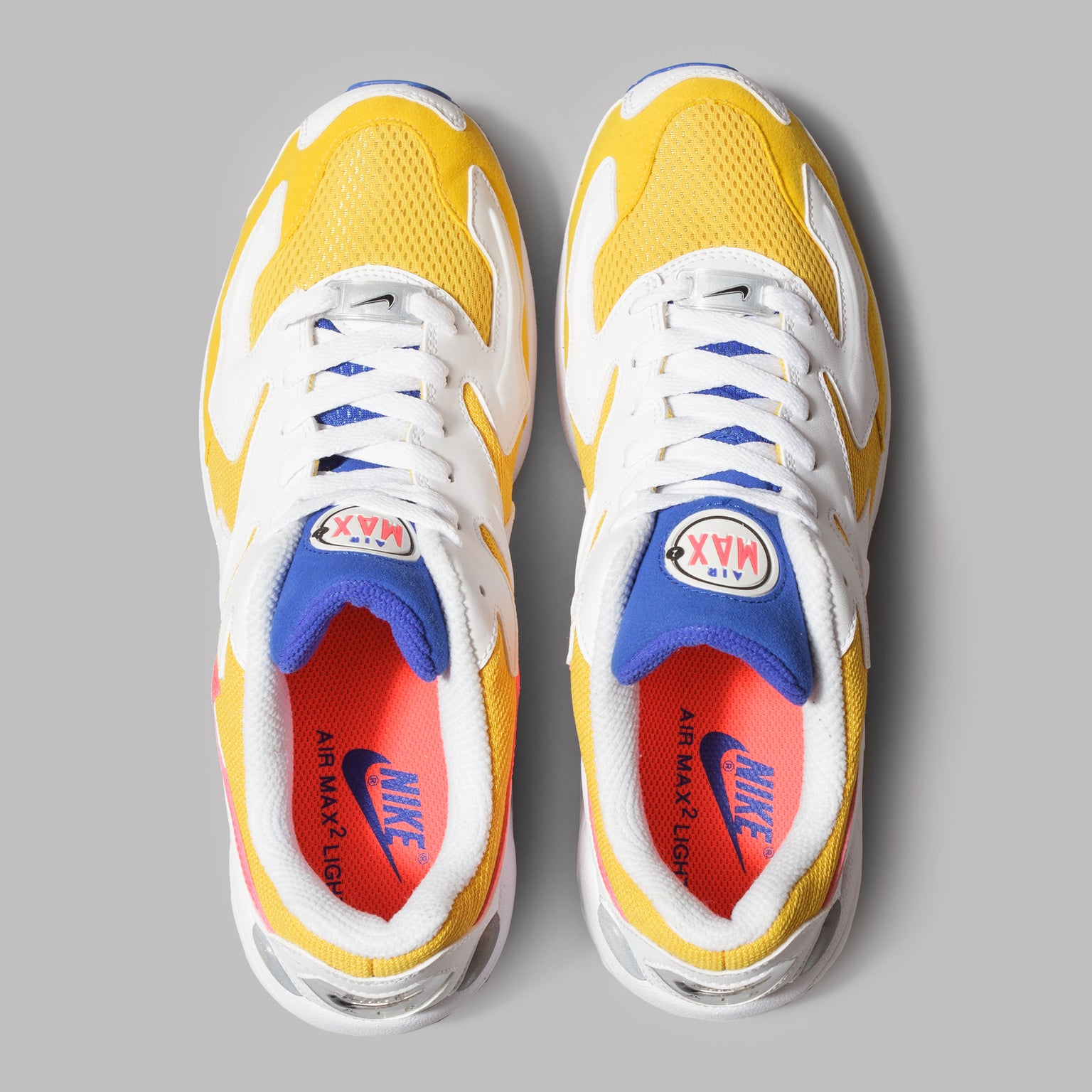 046f7623ad Nike Air Max 2 Light (University Gold / Flash Crimson / Racer Blue) ...
