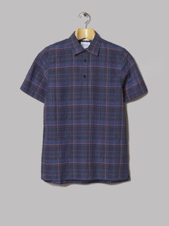 Norse Projects Theo Textured Check Shirt (Dark Navy)