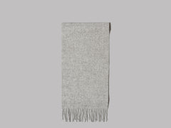 Johnstons of Elgin Oi Polloi Lambswool Scarf (Light Grey)