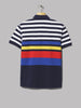 Polo Ralph Lauren Slim Fit Striped Mesh Polo (Newport Navy Multi)
