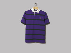 Polo Ralph Lauren Short Sleeve Striped Rugby Shirt (Chalet Purple /College Green)