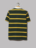 Polo Ralph Lauren Short Sleeve Striped Rugby Shirt (College Green / Gold Bugle)
