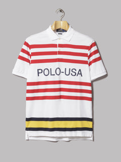 Polo Ralph Lauren Crew Neck Cotton Logo Knit (White)