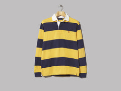 Polo Ralph Lauren Striped Rugby Shirt (Gold Bugle / Newport Navy)
