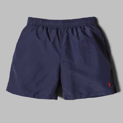 Polo Ralph Lauren Hawaiian Boxer Swim Shorts (Newport Navy / Red)
