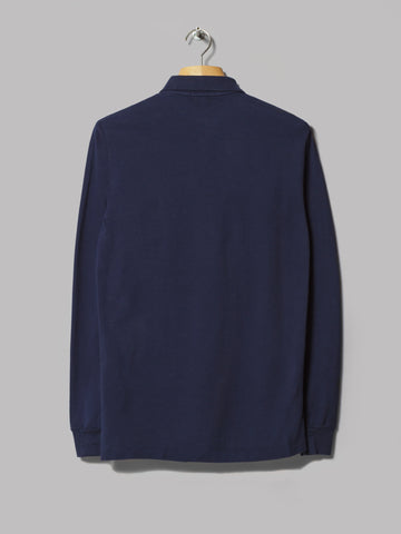 Polo Ralph Lauren Custom Fit Long Sleeve Polo (Newport Navy)