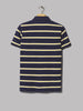 Polo Ralph Lauren Custom Slim Fit Striped Polo (Newport Navy / Arctic Yellow Multi)