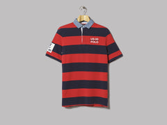 Polo Ralph Lauren Classic Fit Rugby CP-93 Polo (Polo Sport Red / Cruise Navy)