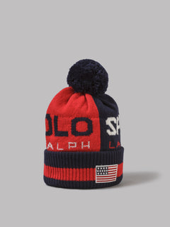 Polo Ralph Lauren Acrylic Nylon Wool Hat (Red)