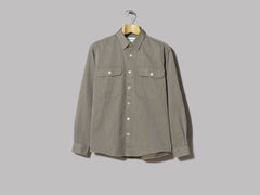 Schnayderman's Shirt Boxy Twill Solid (Army Green)