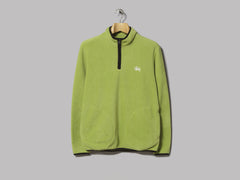 Stüssy Polar Fleece Half Zip (Lime)