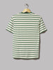 Sunspel Classic Short Sleeve T-Shirt (Ecru / Chlorophilia Green Breton Stripe)