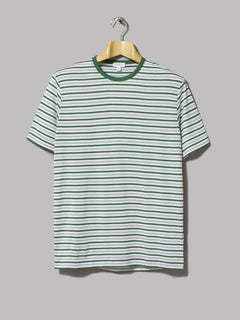 Sunspel Short Sleeve Open Neck Polo (Kale)