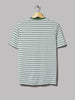 Sunspel Classic Short Sleeve T-Shirt (Chlorophilia Green / Light Indigo / White English Stripe)