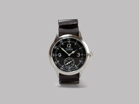 Techné Instruments Merlin 246 Quartz Field Watch (Brushed 316L Stainless Steel / Black Nylon)