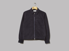 Universal Works Zip Uniform Shirt (Navy Moleskin)