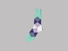 Burlington Clyde Socks (Green / Purple / Lilac / White)