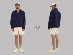 Wyse Ashram Overshirt (Navy Cotton Twill)