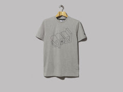 adidas Wireframe Tee (Medium Grey)