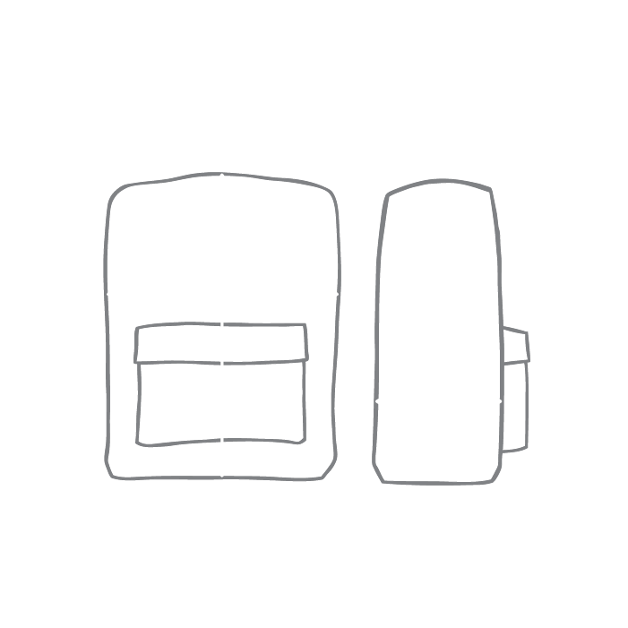 Size chart diagram for Backpack