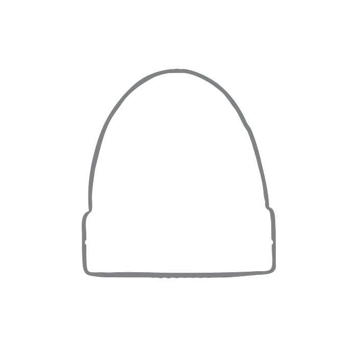 Size chart diagram for Beanie Hat