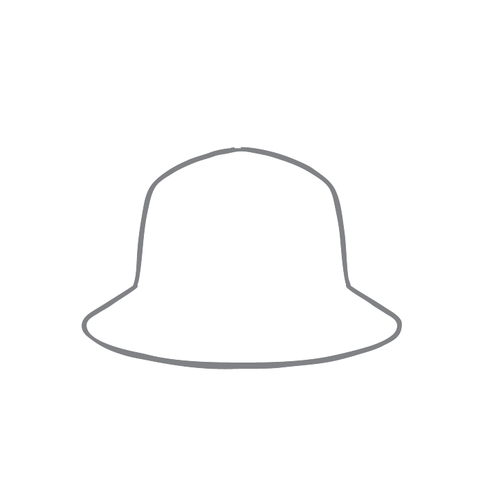 Size chart diagram for Brimmed Hat