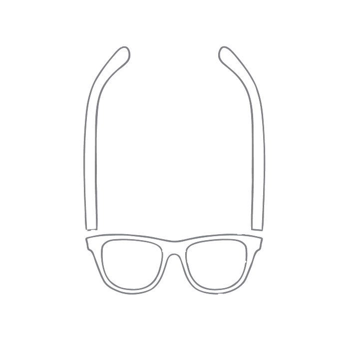 Size chart diagram for Glasses
