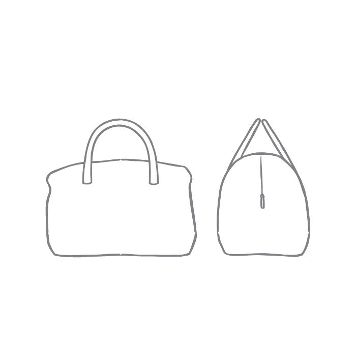 Size chart diagram for Holdall