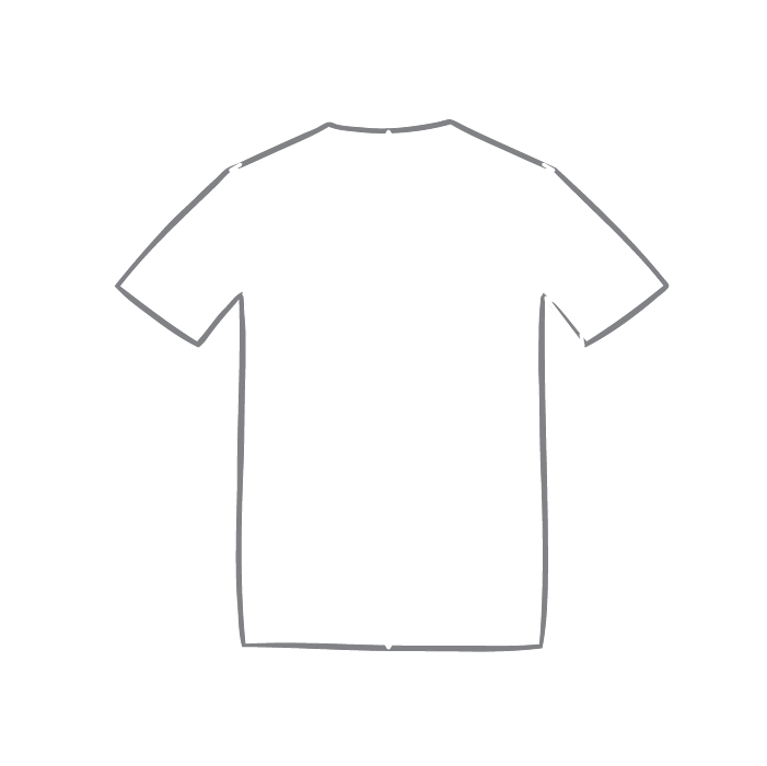 Size chart diagram for Short Sleeve Top