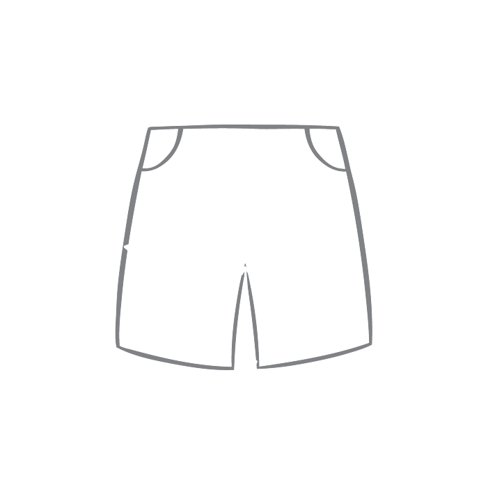 Size chart diagram for Shorts