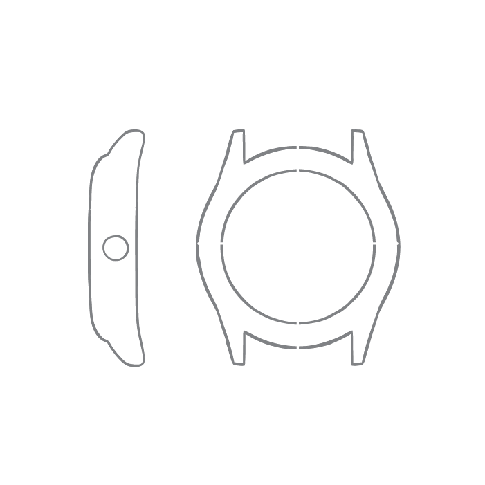 Size chart diagram for Watch