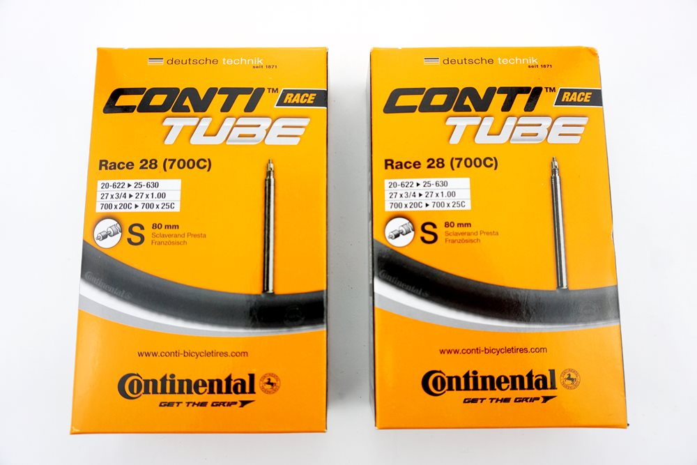 2x Fahrrad Continental Schlauch 20-25/622-630 S80 RACE 28