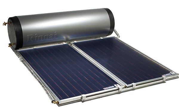 Rinnai on roof solar hot water