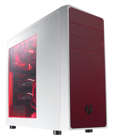 BITFENIX® NEOS MID TOWER WHITE & RED - 991 Solutions - RSA  - 1