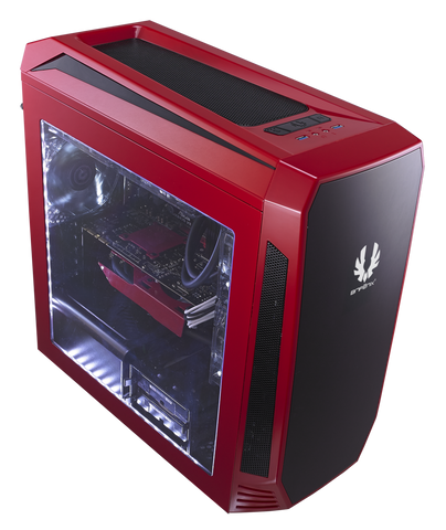 BITFENIX® AEGIS RED- M-ATX TOWER - 991 Solutions - RSA  - 1