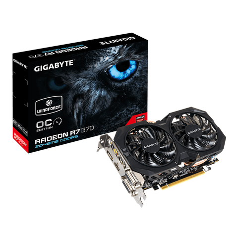 GIGABYTE R7 370 2048MB OVERCLOCKED GRAPHICS CARD - 991 Solutions - RSA  - 1