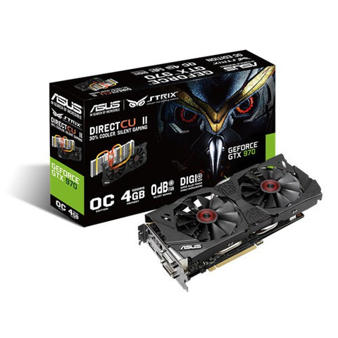 ASUS STRIX-GTX970-DC2-4GD5 Graphics Card - 991 Solutions - RSA  - 1