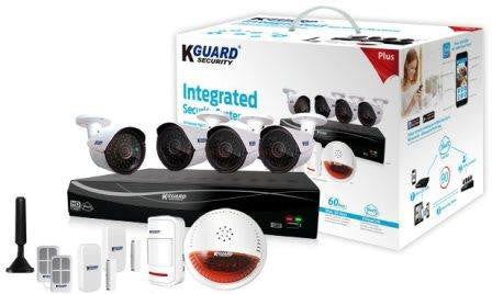 KGuard Easy Link PLUS 8 Ch with 4 Cameras & Wireless alarm system - 991 Solutions - RSA  - 1