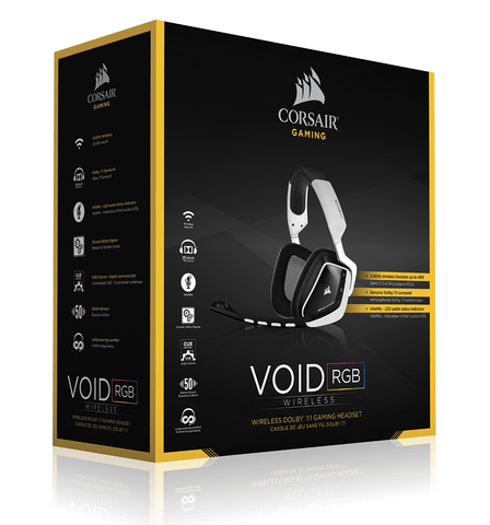 CORSAIR VOID Wireless Dolby 7.1 RGB Gaming Headset — White