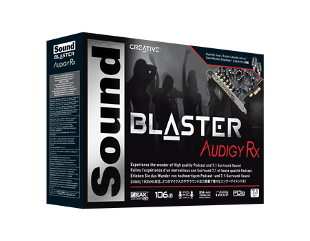 CREATIVE® SOUND BLASTER AUDIGY RX - 991 Solutions - RSA  - 1